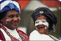 Two traditionally dressed Xhosa ladies