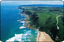 Gardenroute golf: The coastline alongside the course